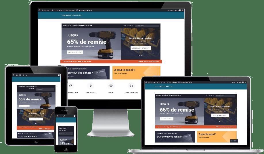 Votre boutique en ligne design, performante et securisée