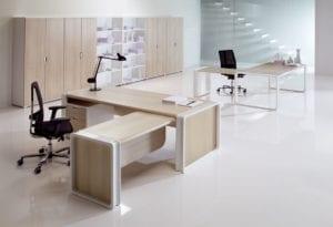 Illustration solutions mobiliers de bureaux